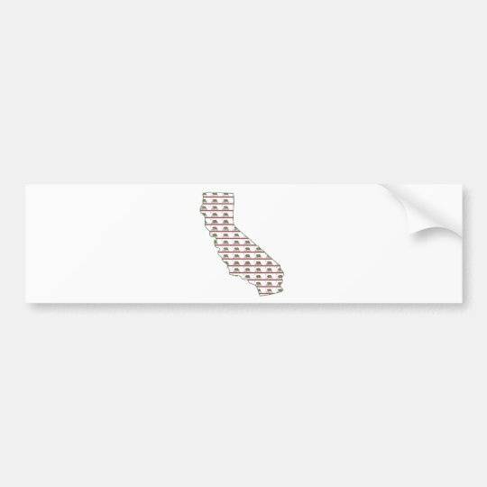 California Flag Outline Bumper Sticker