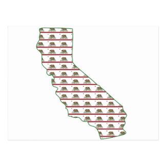 California Flag Outline Postcard