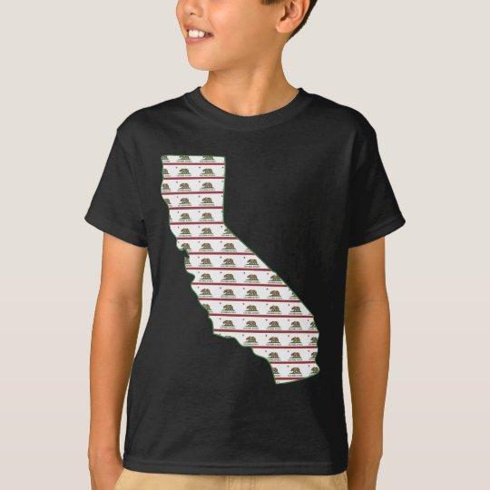 California Flag Outline T-Shirt
