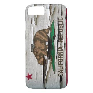 California Flag Paint Peel iPhone 7 Case
