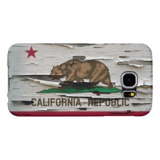 California Flag Paint Peel Samsung Galaxy S6 Case