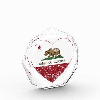 california flag pasadena heart distressed award