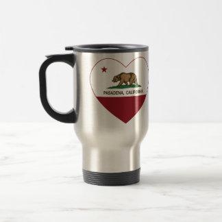 california flag pasadena heart travel mug