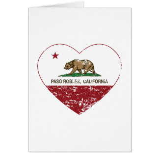 california flag paso robles heart distressed greeting card