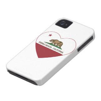 california flag pebble beach heart iPhone 4 Case-Mate case