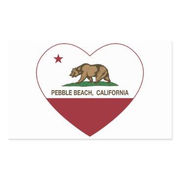 LgTshirts california flag pebble beach heart rectangular sticker