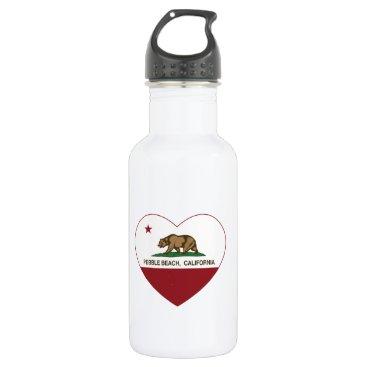 LgTshirts california flag pebble beach heart stainless steel water bottle
