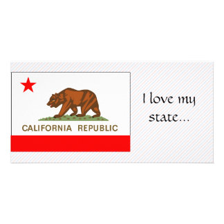 California Flag Picture Card