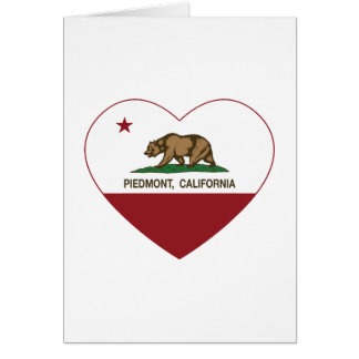 california flag piedmont heart greeting card