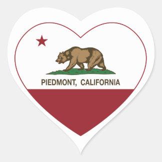 california flag piedmont heart heart sticker