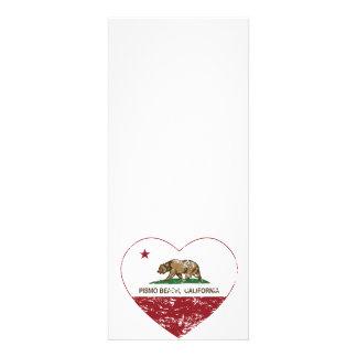 california flag pismo beach heart distressed custom invite