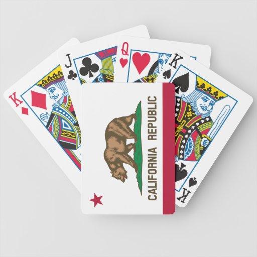 California Flag Poker Cards