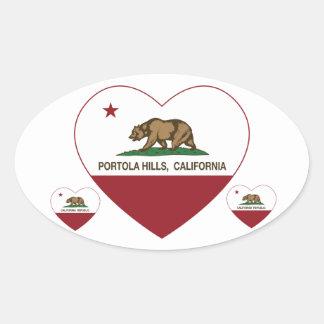 california flag portola hills heart oval sticker