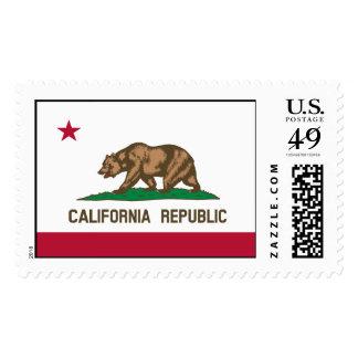 California Flag Postage Stamp