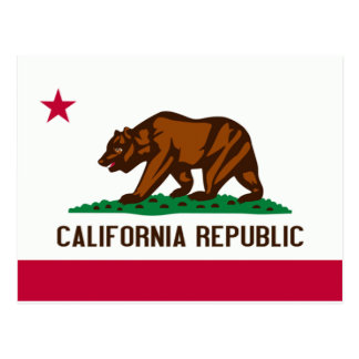 California Flag Postcard