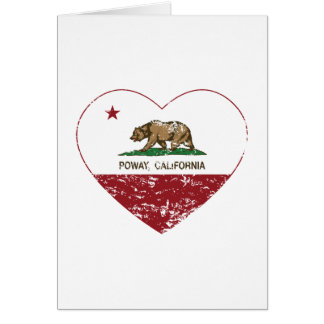 california flag poway heart distressed card