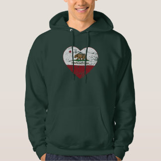 california flag poway heart distressed pullover
