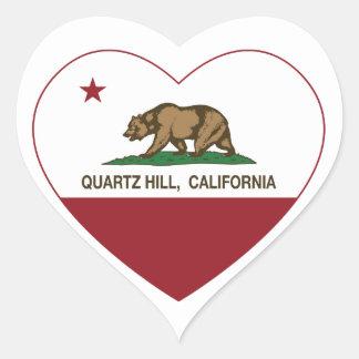 california flag quartz hill heart heart stickers