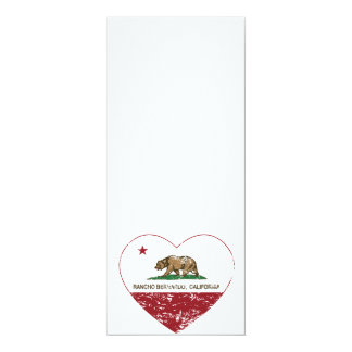 california flag rancho bernardo heart distressed card
