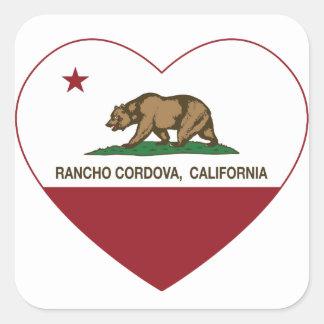 california flag rancho cordova heart square sticker