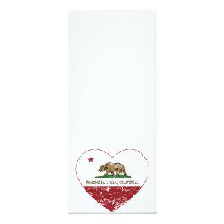 california flag rancho la costa heart distressed card