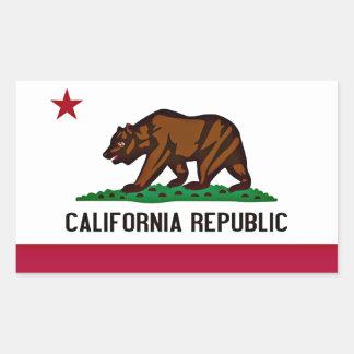 California Flag Rectangular Sticker