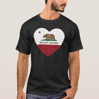 california flag red bluff heart T-Shirt