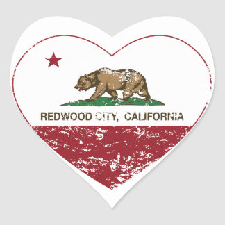 california flag redwood city heart distressed heart sticker