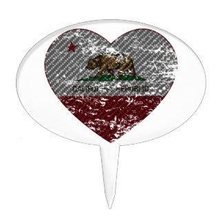 california flag republic carbon fiber heart cake topper