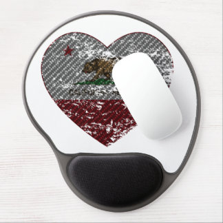 california flag republic carbon fiber heart gel mouse pad