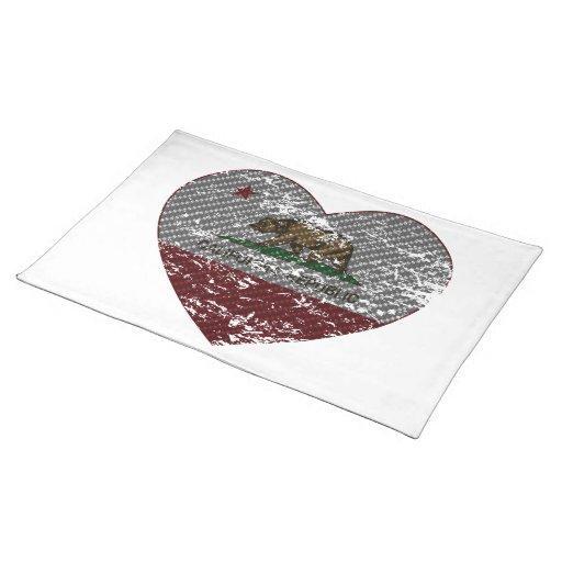 california flag republic carbon fiber heart placemat
