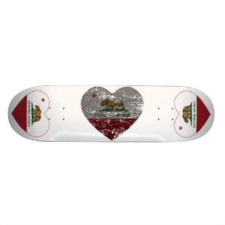 california flag republic carbon fiber heart skateboard deck