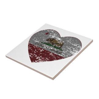 california flag republic carbon fiber heart tiles