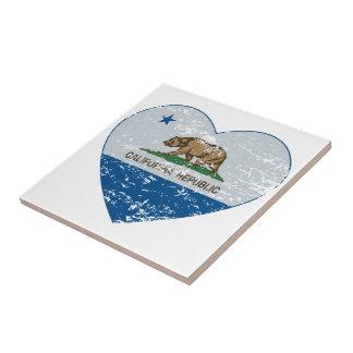california flag republic heart blue and grey tile