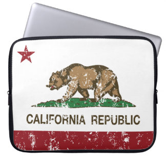 california flag republic state flag laptop sleeve