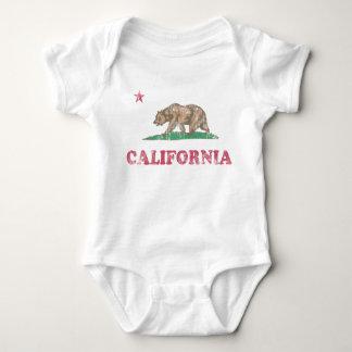California Flag Retro Fade Baby Bodysuit