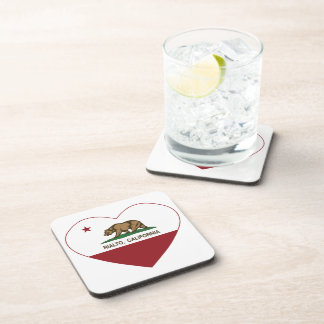 california flag rialto heart beverage coaster