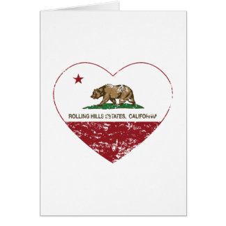 california flag rolling hills estates heart dist greeting cards