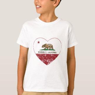 california flag rosemead heart distressed T-Shirt