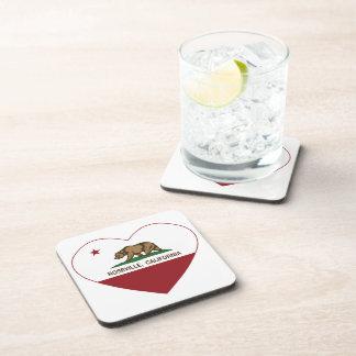 california flag roseville heart beverage coaster