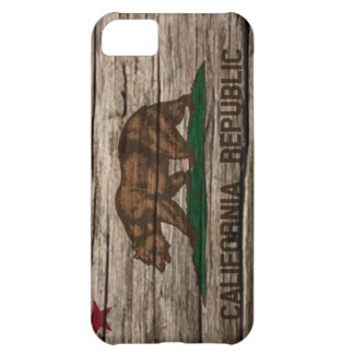 California Flag Rustic wood Cover For iPhone 5C