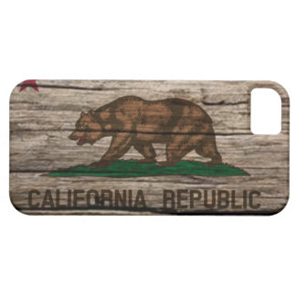 California Flag Rustic wood iPhone 5 Covers