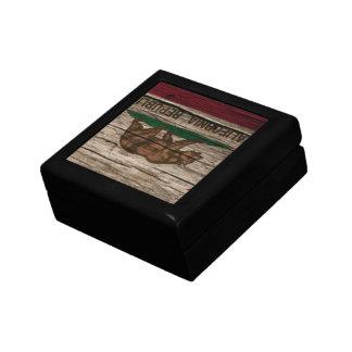 California Flag Rustic wood Keepsake Box