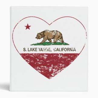california flag S. lake tahoe heart distressed Binder