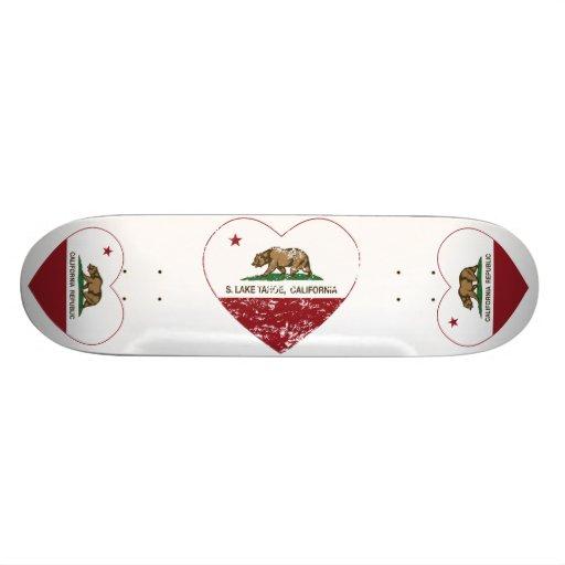 california flag S. lake tahoe heart distressed Skateboard Deck