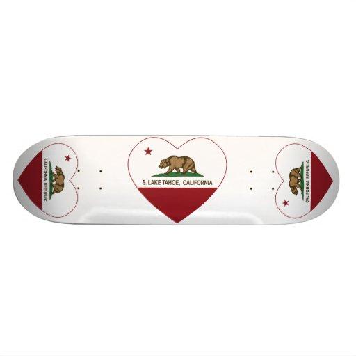 california flag S. lake tahoe heart Skate Decks
