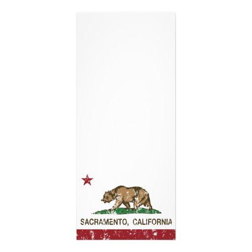california flag sacramento distressed invites
