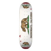 california flag sacramento distressed skateboard deck
