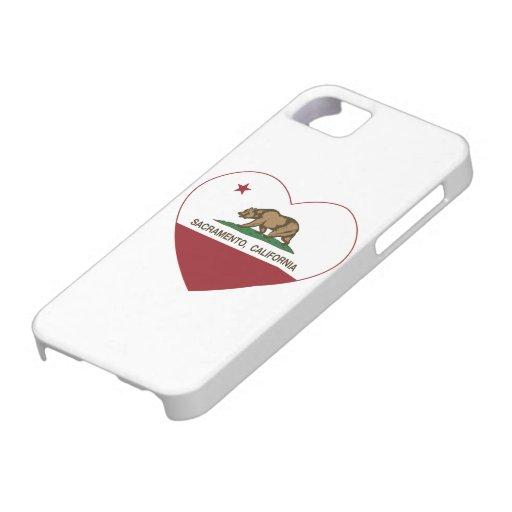 california flag sacramento heart iPhone 5 case