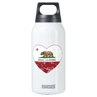 california flag salida heart distressed 10 oz insulated SIGG thermos water bottle